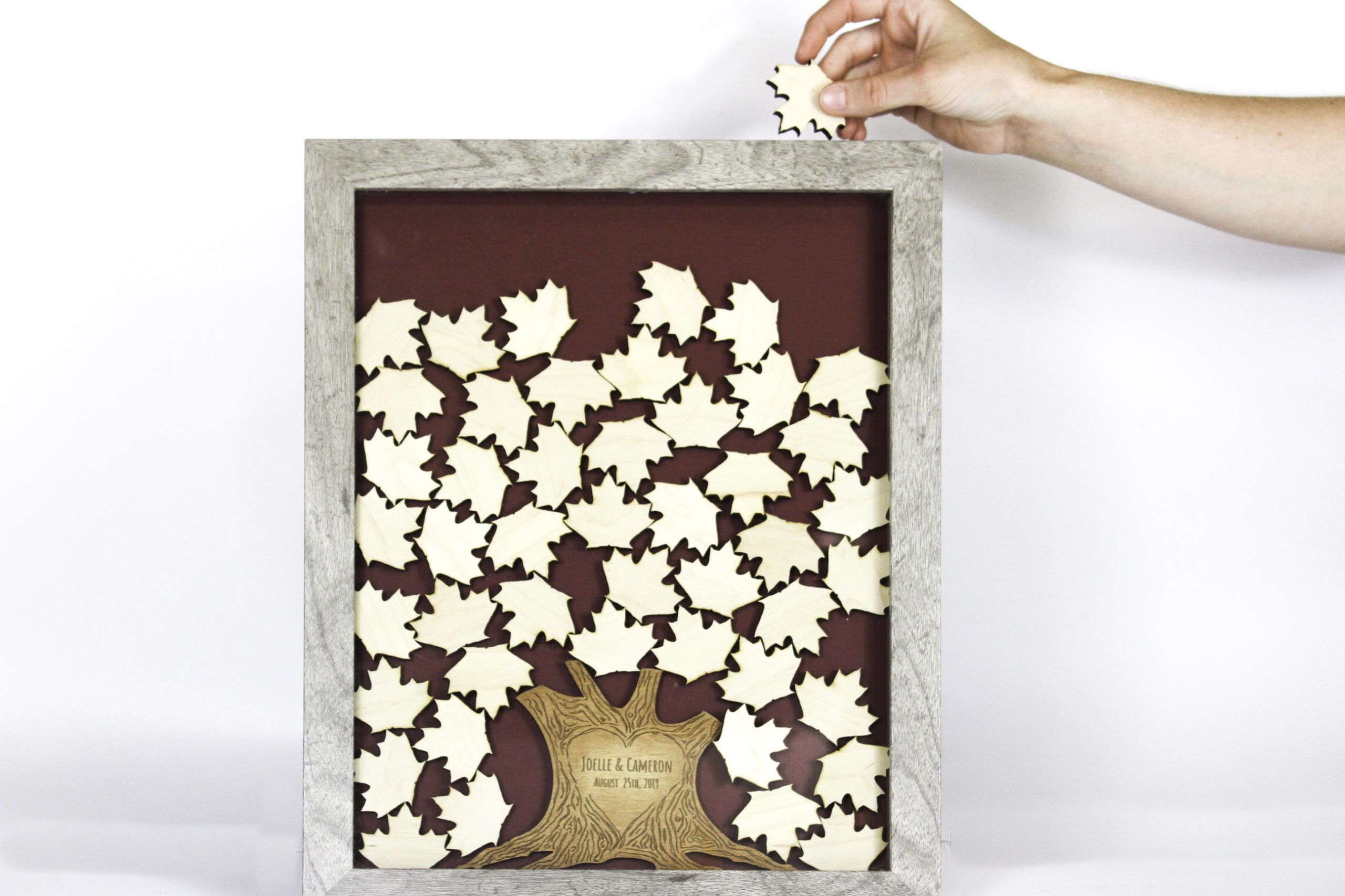 Personalized Wedding Tree Drop Box Top Guest Book Alternative Havoly