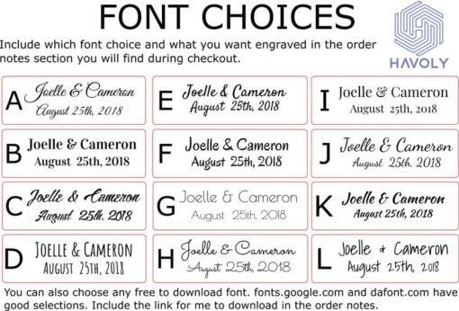 font choices | Havoly