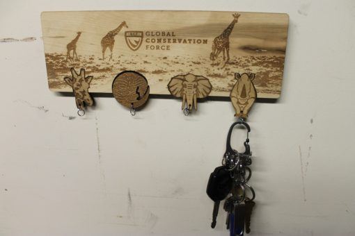 GCF Wood Key Holder