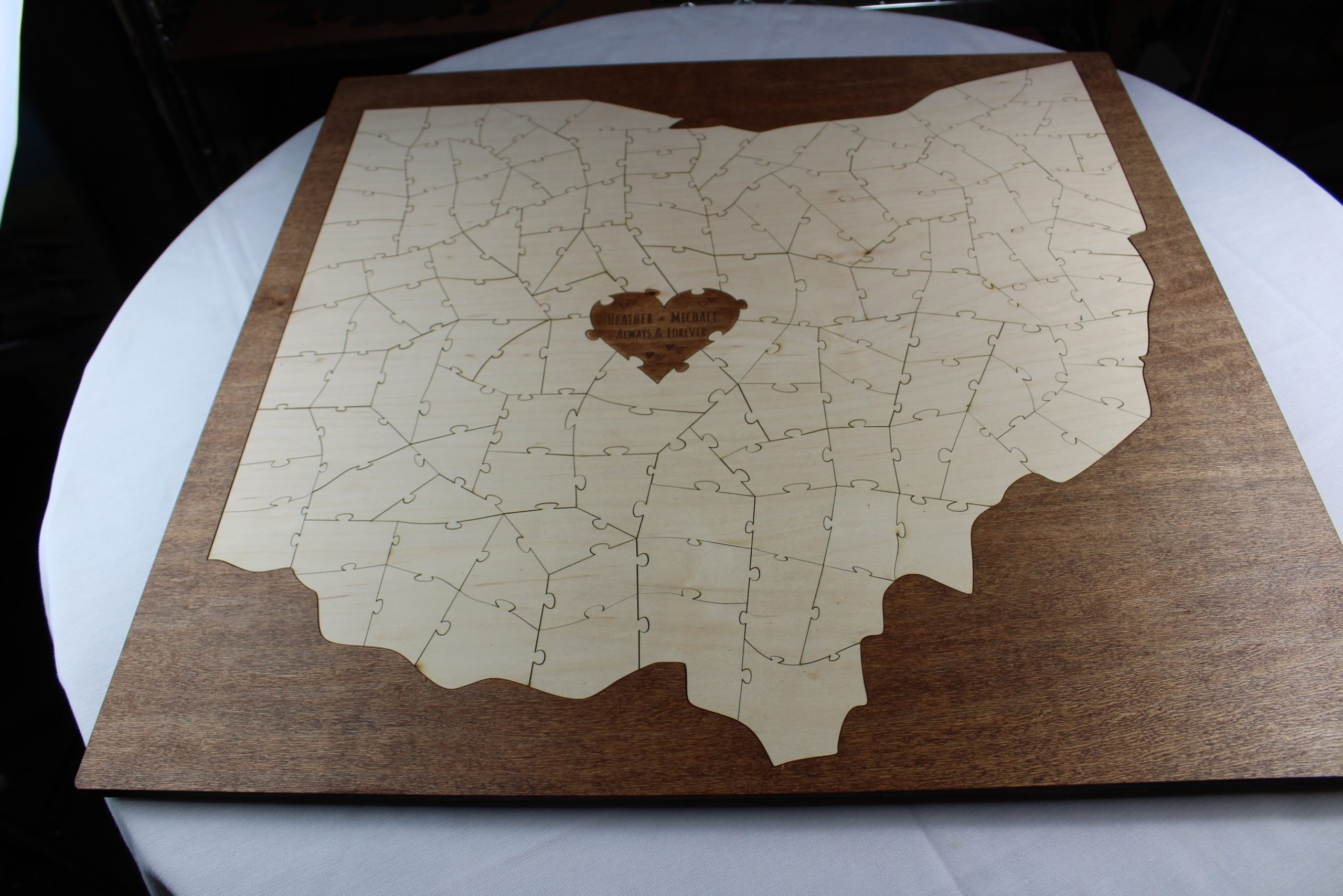 State Puzzle Guest Book Alternative