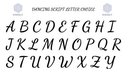 Dancing Script Letter Font