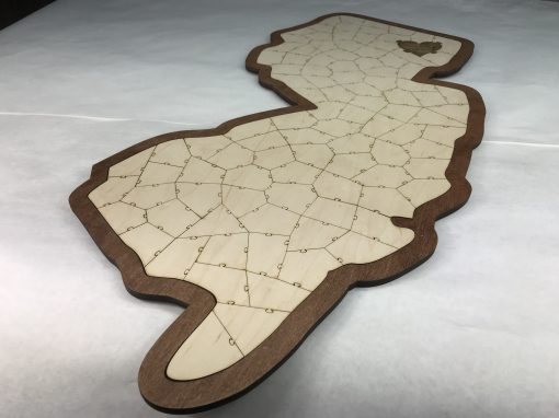 California State Puzzle Personalized Guest Book Idea