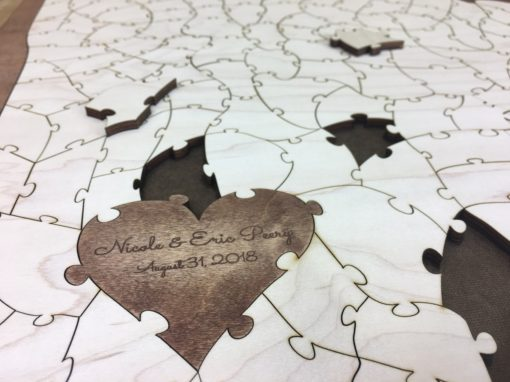 Personalized Heart Puzzle Piece