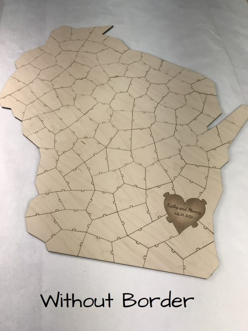 Wooden State Puzzle No Border   Havoly