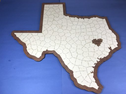 Texas State Puzzle Wedding Guest Book