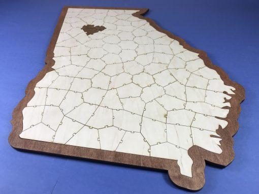 Custom Elegant State Puzzle Guest Book Alternative