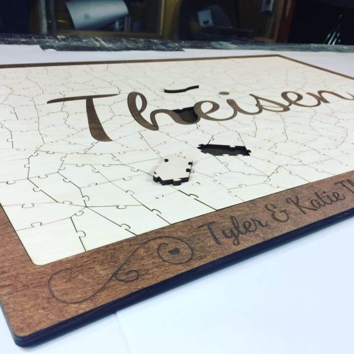 Wooden Name Puzzle Guest Book (Theisen)