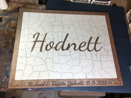 Name Puzzle Wedding Guest Book