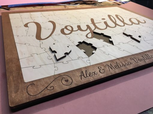 Wooden Name Puzzle Guest Book