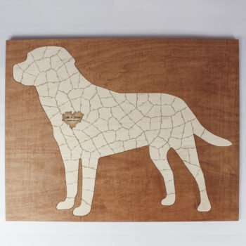 large dog framed puzzle