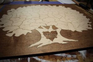 Borderd-Tree-Puzzle-Wedding Guest Book