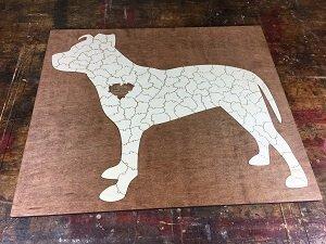 Pit Bull Dog Wedding Puzzle