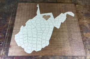 West-Virginia-State-Puzzle Wedding Guest Book Alternative