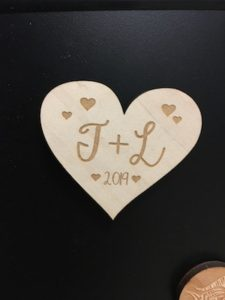 Heart Magnet Initialed