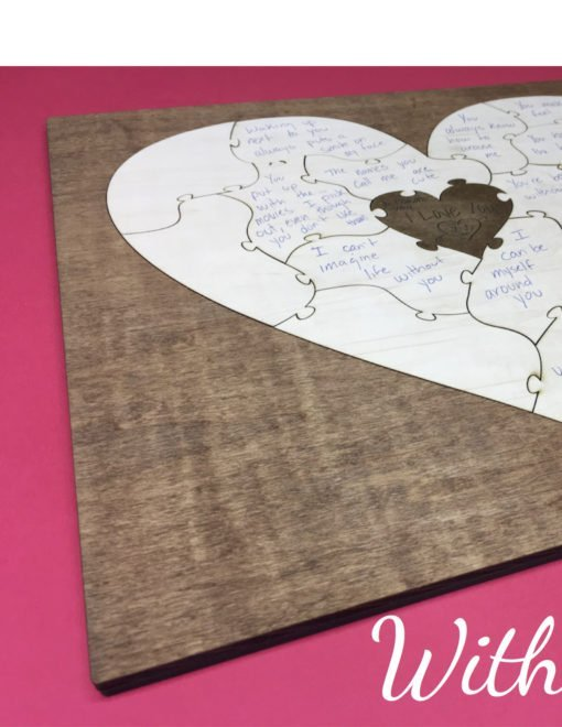 valentines heart puzzle wooden