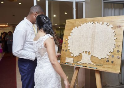 Jo-Ann's Wedding Guest Book in Use