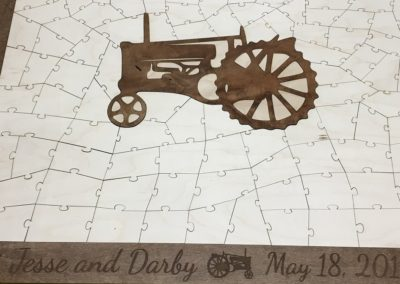 Wooden Tractor Puzzle Guest Book