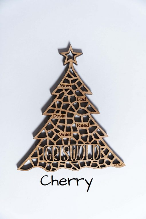 Cherry Xmas Tree Ornament Labeled